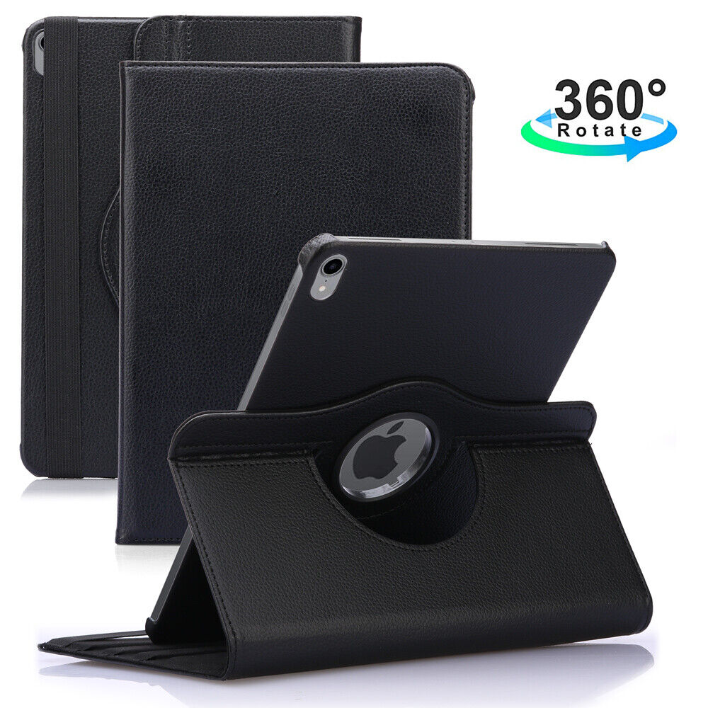 "For iPad Pro 12.9"" 11"" 9.7"" 2018 Rotating Leather Folding St"