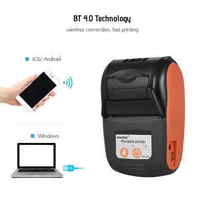 10pcs Goojprt 58mm Handheld Bluetooth Wireless Pos Thermal Receipt Printer Z0e3