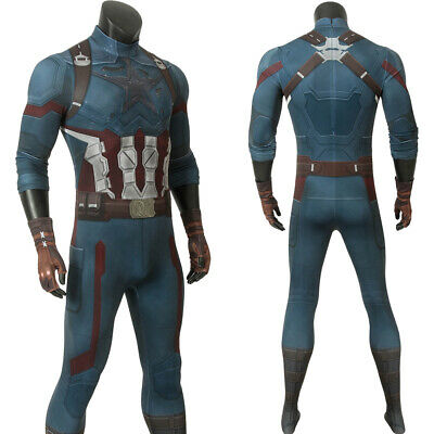 Avengers Costume 3 Infinity War Captain America Cosplay Costume Adult BodySuit  - Captain America Costume Adult