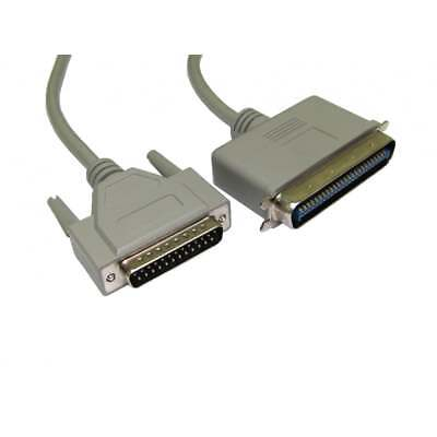 1m SCSI 1 D25 Male to 50 Pin Centronics male Cable Lead