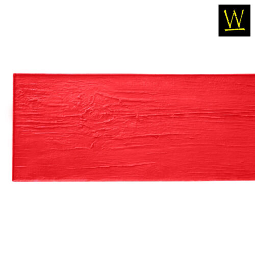 Centennial Plank Wood | Single Concrete Stamp by Walttools (Red, 6 ft.)