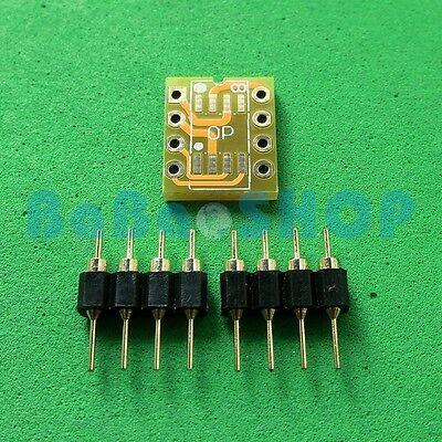 10pcs Dual Soic8 Sop8 To Dip8 Adapter Pcb Board Pin Mono Opamp Opa627 Ad797