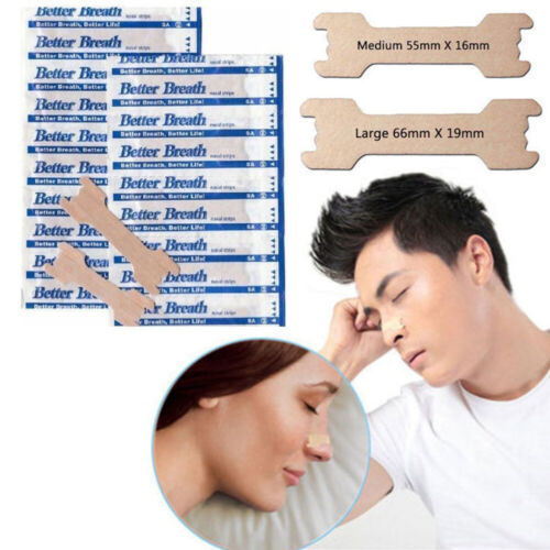 50-200 NASAL STRIPS (LARGE/TAN) Help Breath / Reduce Snoring Right Now Health & Beauty
