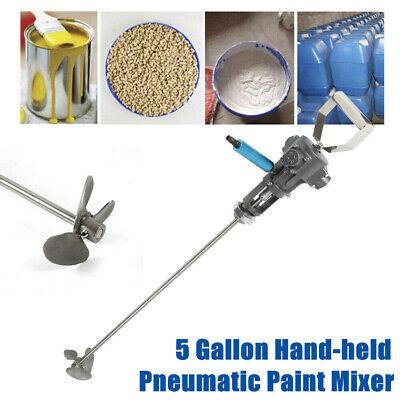 5 Gallon Hand-held Pneumatic Paint Mixer Machine Ink Coating Mixing Tool New