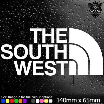 THE SOUTH WEST Sticker Decal Sinyl Car Van Window Bumper JDM DUB EURO