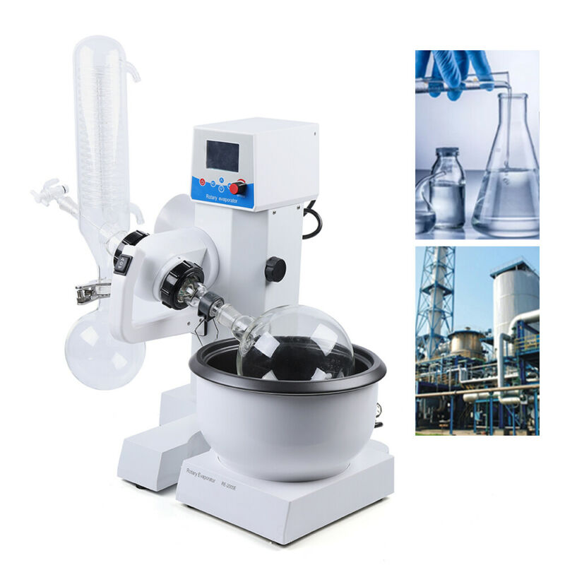 2L Rotary Evaporator Rotavapor Lab equipment RE2000E 110V 50Hz US Ship