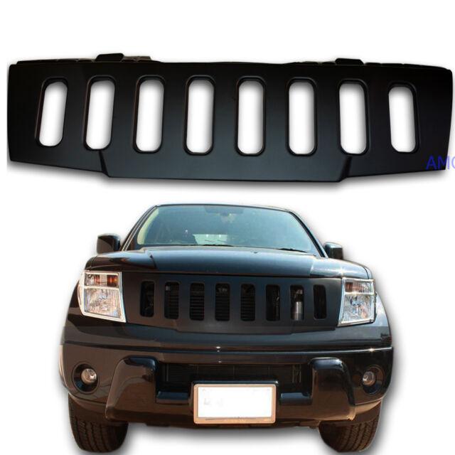 Front grille ABS Fit 05-09 Nissan D40 Navara Pickup Truck Hammer H1 Look - Black