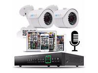 2 1000TVL Cameras 4 Ch 960H DVR CCTV System 500GB HDD Complete Kit Plug&Play P2P