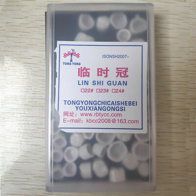 Dental Oral Temporary Anterior Teeth Crown Caps Tooth Synthetic Resin 50 Pcsbox