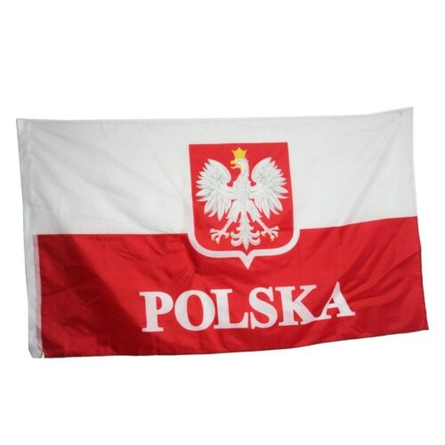 Poland Flag Polish Flags White Eagle Hanging National Big Gift Flaga Polski Old
