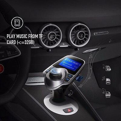 Car Kit Bluetooth Wireless FM Transmitter Radio MP3 Adapter Player for iPhone us
