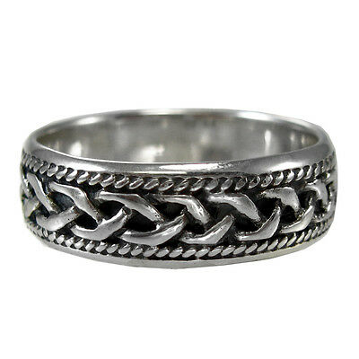 Woven Celtic Knot Ring Band Sz 4-15 Sterling Silver SS Irish Jewelry Knotwork