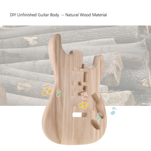 ST01-TM Unfinished Handcrafted Guitar Body Candlenut Wood Replacement Parts DIY