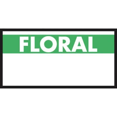 Monarch White Labels With Reversed Green Print Floral For 1110 1-line Pricing