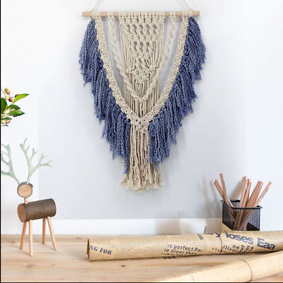 Boho Handmade Chic Tapestry Macrame Woven Wall Hanging Bohemian Art Wall Decor