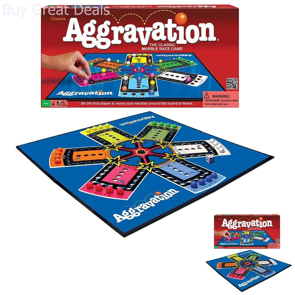 Details about New Original Aggravation Marble Race Board Game Artwork