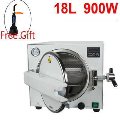 18l Medical Steam Pressure Sterilizer Autoclave Dental Lab Equipmentfree Gift