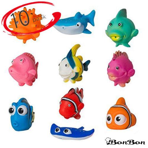 BonBon Fish Bath Floating Toddler Play Baby Toys Water Bathtime Sqeeze Fun 10pk