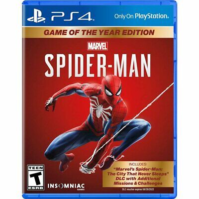 Spider-Man : Game of the Year Edition (PS4) New Sealed Free Shipping