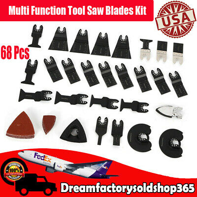 68pcs Quick Change Oscillating Tool Saw Blades Kit Us New