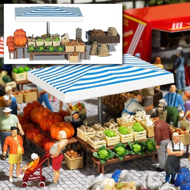 BUSCH 1070 Market stall Vegetables H0 #new original packaging#