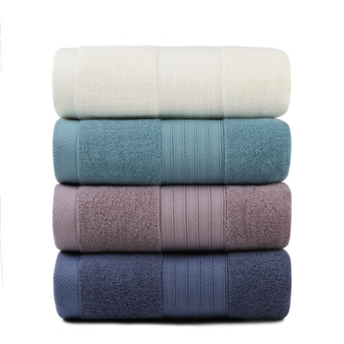 Set of 2 Luxury Pure Turkish Cotton Bath Towel Large Bath Sh