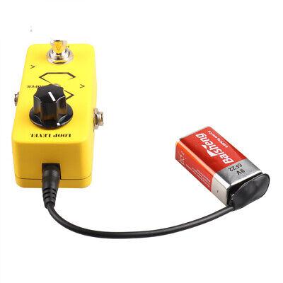 Mini 9V Guitar Looper Effect Pedal Loop Station w/ Battery Clip Converter Cable - Mini Loop Station