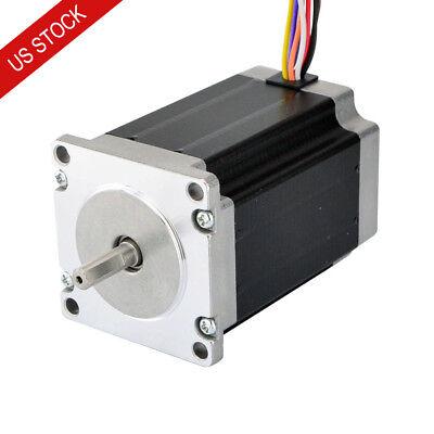 Dual Shaft Nema 23 Stepper Motor 2.83nm 4a 8-wire 6.35mm Cnc Mill Lathe Router