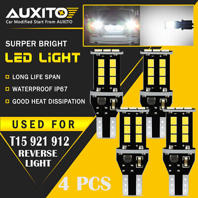 4X Canbus Error Free 921 912 Back Up Reverse Lights White 15SMD LED Bulbs 2400LM