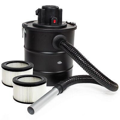 Aschesauger Kaminsauger mit Motor 1200W HEPA Filter Kamin + 2 Ersatzfilter