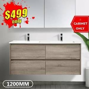 Bathroom Vanity 1200mm Wall Hung Cabinet Finger Pull Kris *NEW*