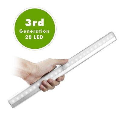 20 LED Light Strip USB Rechargeable Motion Sensor Lamp Camping Tent Closet Light