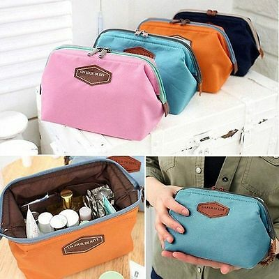 Multifunction Purse Box Travel Makeup Cosmetic Bag Toiletry Case Pouch