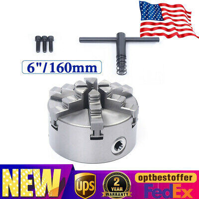 6 Jaw Self-centering Lathe Chuck For Milling Machine Hardened Steel 2500 Rmin
