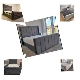 🌼🌼 High quality brand new bed with mattress and high headboard