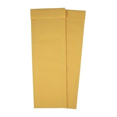 4.5 X 13.75 Kraft Bubble Mailers Narrow Self Seal Padded Envelopes - 25 Count