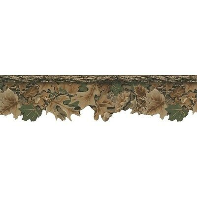Camouflage Leaves Jordan Advantage CAMO BORDER Brown/Green Wallpaper WD4130B