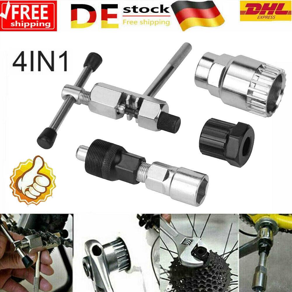 Fahrradwerkzeug Reparatur Tretlager Kurbelabzieher Kettenschneider Cutter 4in1
