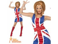90s SPICE GIRL GINGER SPICE FANCY DRESS OUTFIT WITH WIG SIZE 16/18 GREAT FOR A PARTY OT HEN DO