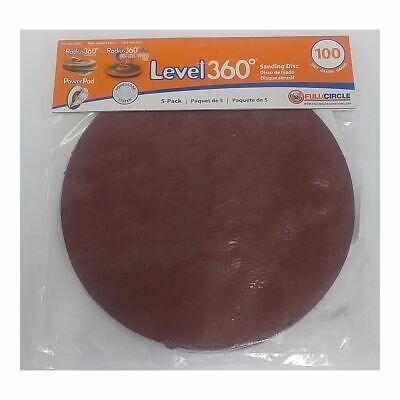 Full Circle Intl 5-pack Level 360 8-34 Round Sanding Discs 100 Grit Sd100-5