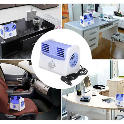Car Air Conditioner Quiet Cooling Fan Portable Auto Vehicle Cooler DC 12V-24V UK