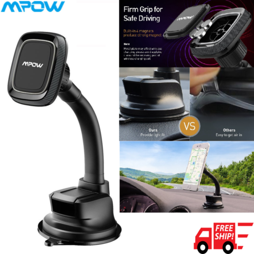 Mpow Car Phone Mount Magnetic, Windshield Long Arm Phone Hol
