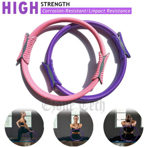 Dual Grip Pilates Ring Body Fitness Workout Exercise Yoga Circle Trainer Tool
