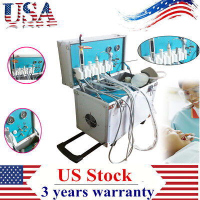 Portable Dental Delivery Unit Casecompressorled High Low Speed Handpiece Tube