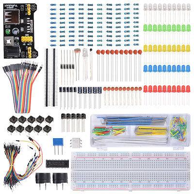 Beginner Starter Jumper Wire Learning Kit Breadboard LED for Raspberry Pi TE715