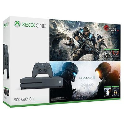 Xbox One S 500Gb Console   Gears Of War   Halo Special Edition Bundle    Grey