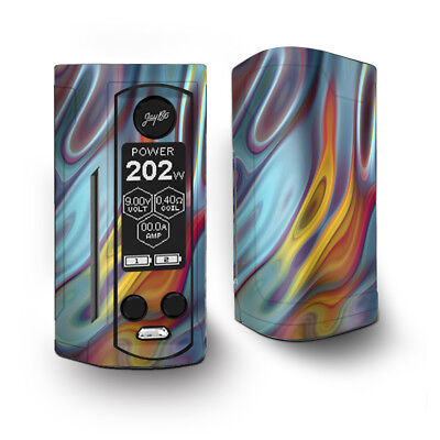 Skin Decal for Wismec Reuleaux RX Gen3 Dual Vape / Color Glass Opalescent Resin