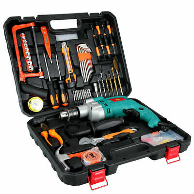Anbull 12 Variable-speed Hammer Drill Rotary Hammer Electric Drill Set W Case