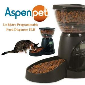 Used Aspen Pet Le Bistro Programmable Food Dispenser 5LB Condtion: Used, 5lb
