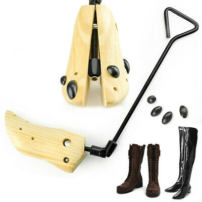 1Pair Boot Stretcher Men Wood Shaper Women Western Cowboy Adjustable Bunions US